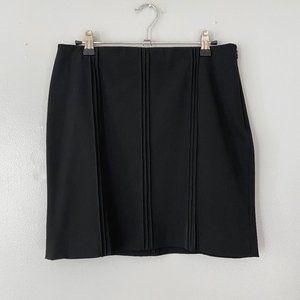 Ralph Lauren Plaid Label Black Stretch Mini Skirt